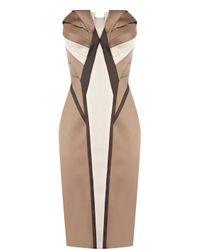 Karen Millen | Metallic Signature Satin Dress | Lyst