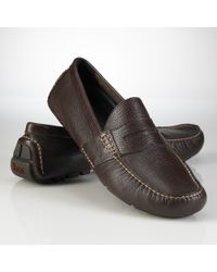 Polo Ralph Lauren | Brown Telly Penny Loafers for Men | Lyst