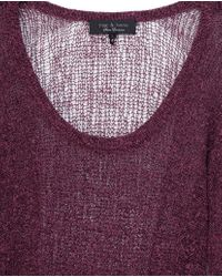 Rag & Bone | Purple Bridget Pullover | Lyst