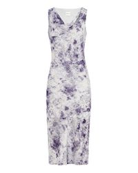 Reiss - Blue Bias Cut Dress - Lyst