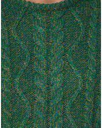 ASOS - Green Asos Cable Jumper in Nepp Yarn for Men - Lyst