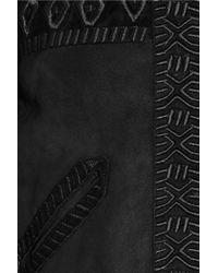 Isabel Marant | Black Embroidered Shearling Jacket | Lyst