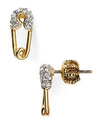 Juicy Couture | White Safety Pin Earrings | Lyst