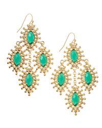 Kendra Scott - Green Febe Chandelier Earrings - Lyst