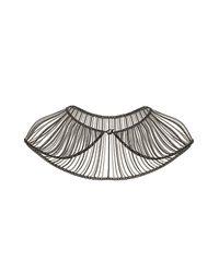 TOPSHOP - Metallic Chain Drape Cape Necklace - Lyst