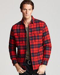 Victorinox | Red Thorton Tartan Overshirt for Men | Lyst