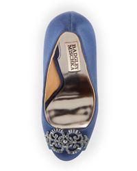 Badgley Mischka - Blue Susan - Navy Satin - Lyst