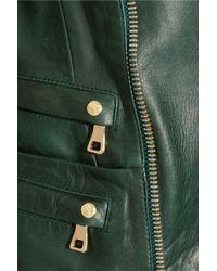 Balmain | Green Leather Jacket | Lyst