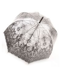 Jean Paul Gaultier | Multicolor Transparent Lace Print Umbrella | Lyst