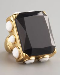 Panacea | Black Rectangle Ring | Lyst