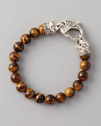 Stephen Webster | Brown Tigers Eye Bead Bracelet 10mm | Lyst