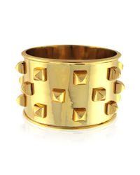 Vince Camuto - Metallic Goldtone Studded Cuff Bracelet - Lyst