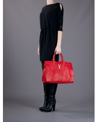 Saint Laurent | Red Cabas Chyc Tote | Lyst