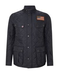 Barbour Quilted Steve Mcqueen Jefferies Jacket In Blue For