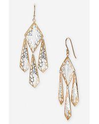 Argento Vivo | Metallic Prism Chandelier Earrings | Lyst