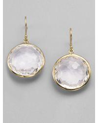 Ippolita | Metallic Lollipop Clear Quartz & 18k Yellow Gold Large Drop Earrings | Lyst