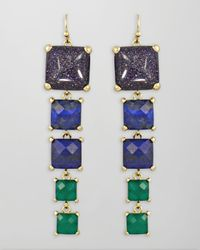 Kendra Scott | Blue Cats Eye Explosion Earrings | Lyst