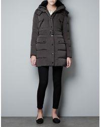 Zara | Black Ottoman Puffer Jacket | Lyst