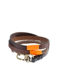 J.Crew | Brown Caputo & Co. Triple-wrap Leather And Waxed Cord Bracelet for Men | Lyst