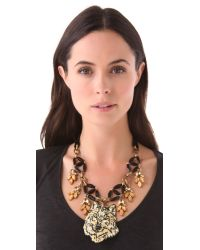 Lulu Frost - Black Ula Collage Necklace - Lyst
