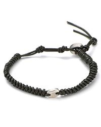 Chan Luu - Green Leather Knot Bracelet for Men - Lyst