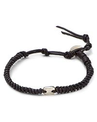 Chan Luu - Blue Leather Knot Bracelet for Men - Lyst
