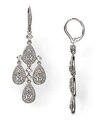 Nadri | Metallic Teardrop Leverback Chandelier Earrings | Lyst