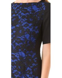 Tibi | Blue Lace Short Sleeve Dress | Lyst