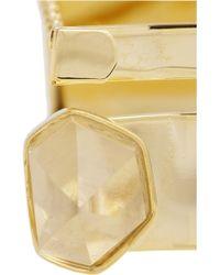 Esteban Cortazar - Metallic By Alican Icoz 22karat Goldplated Quartz Bracelet - Lyst