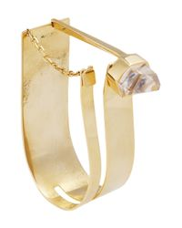 Esteban Cortazar - Metallic By Alican Icoz 22karat Goldplated Quartz Bracelet - Lyst