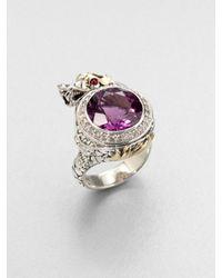 John Hardy | Metallic Amethyst Diamond Dragon Ring | Lyst