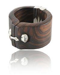 Kara Ross - Brown Ebony Shirt Cuff with Gem - Lyst
