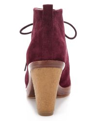 Kors by Michael Kors - Brown Lena Lace Up Booties - Lyst