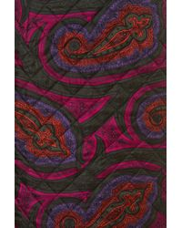 TOPSHOP   Red Quilted Paisley Silk Skirt    Lyst