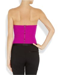 Willow | Purple Stretch-jersey Corset Bodysuit | Lyst