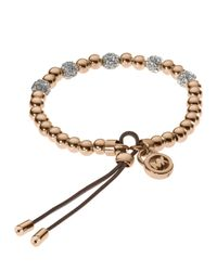 Michael Kors | Brown Bead Stretch Bracelet | Lyst