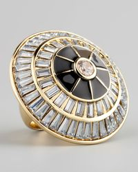 Rachel Zoe | Metallic Crystal Circle Ring | Lyst