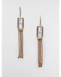 Ippolita | Pink Sterling Silver 18k Gold Clear Quartz Tassel Earrings | Lyst