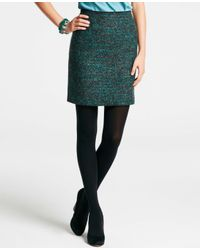 Ann Taylor | Green Petite Midnight Tweed Pencil Skirt | Lyst