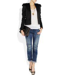 Balmain | White Structured Wool Jacket | Lyst