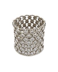 Kenneth Jay Lane - Metallic Crystal Stretch Bracelet - Lyst
