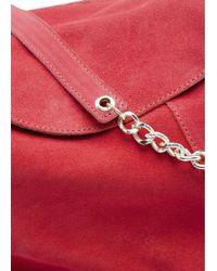 Mango | Red Suede Hobo Bag | Lyst
