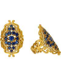 Sara Weinstock - Metallic Sapphire Diamond Medium French Lace Ring - Lyst