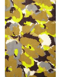 TOPSHOP - Green Mid Weight Camo Scarf - Lyst