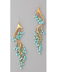 Alexis Bittar | Blue Gold Turquoise River Earrings | Lyst