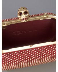 Alexander McQueen | Red 'skull' Box Clutch | Lyst