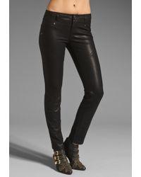 Free People | Black Vegan Leather Seamed Skinny Pant | Lyst