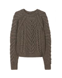 Isabel Marant   Green Vichy Knit Pullover   Lyst