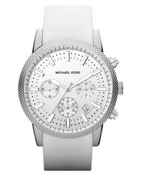 MICHAEL Michael Kors | White Michael Kors Scout Chronograph Watch for Men | Lyst