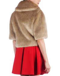 Ted Baker | Natural Oscai Faux Fur Jacket | Lyst